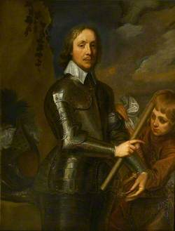 Oliver Cromwell (1599–1658), Wearing Armour, with his Page