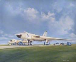Vulcan Bombers on Operational Ready Platforms