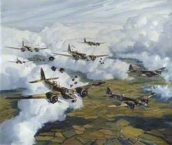 Blenheims of 82 Squadron over Belgium, 17 May 1940, under the Command of Wing Commander the Earl of Bandon