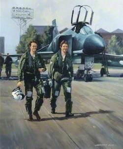 Pilots Walking from a 23 Squadron Phantom