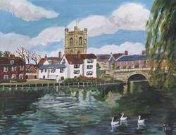 View of Henley with St Mary's Church