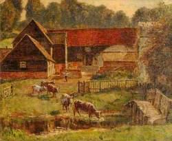 Farmyard Scene, Park Farm, Hughenden, Buckinghamshire