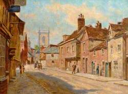 View of St Mary's Street Looking towards the Church, High Wycombe