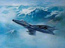 Hunter over the Alps