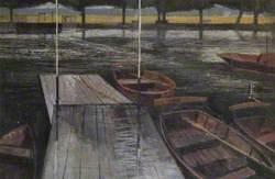 Boats in the Rain, Stratford-upon-Avon, Warwickshire