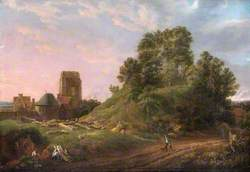 View of Castle Hill, Oxford