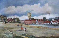 View of St Mary's and the Brakspear Brewery, Henley-on-Thames, Oxfordshire