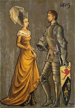 Soldier and Lady of 1415