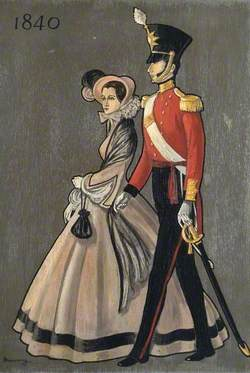 Soldier and Lady of 1840