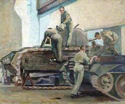 The Repair of a Churchill Tank at the Mill Hill Workshop