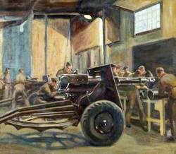 The Repair of 25-Pounder Gun at the Mill Hill Workshop