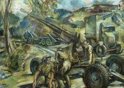 Field Repair of Bofors Anti-Aircraft Gun