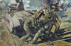 Repair of a Matilda Tank