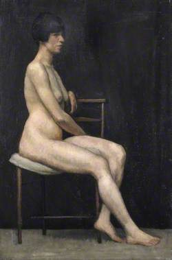 Portrait of a Seated Female Nude
