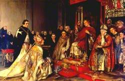 The Visit of Heraclius, Patriarch of Jerusalem to Henry II at Reading Abbey, 17 March 1185