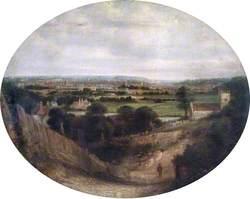 View from St Peter's Hill, Caversham, Berkshire