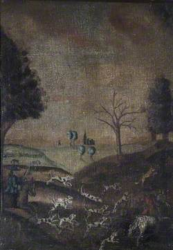 Hunting Scene with a Folly in the Background
