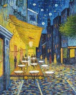 The Café Terrace on the Place Forum, Arles, at Night