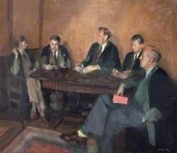 T. R. M. Creighton (Warden), J. E. Prue, S. Fox, I. McPherson, V. Mallinson