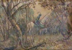 Knight in a Wood