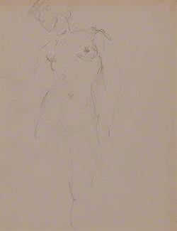 Standing Female Nude; Study of a Seated Woman (verso)