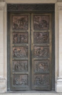 Pair of Bronze Doors