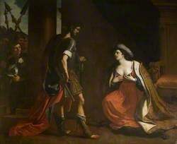 Caesar (or Octavius) and Cleopatra