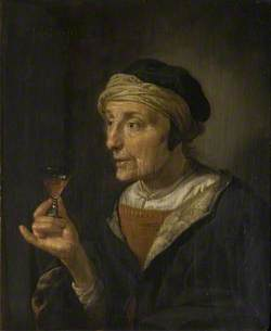 Portrait of a Woman (or man) Holding a Glass
