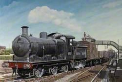 J17 Steam Engine at March Station, Cambridgeshire