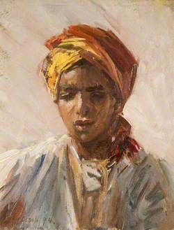 Head of a Bedouin Arab Boy