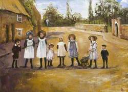Children in Desborough Road, Rothwell, Northamptonshire