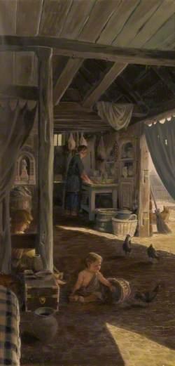 Interior of a Roman Dwelling