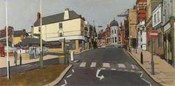 Study for a Painting of Market Street, Wellingborough, Northamptonshire, Prior to Demolition
