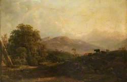 Cattle in a Mountain Landscape