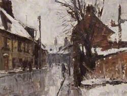 Austin Street, King's Lynn, Norfolk, in Winter