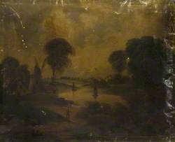 Landscape with a Windmill and Trees by a River*