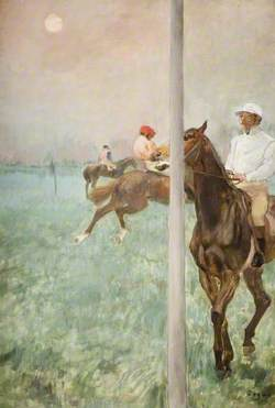 Jockeys before the Race