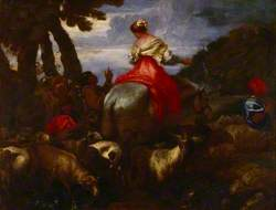 Rebecca Led by the Servant of Abraham