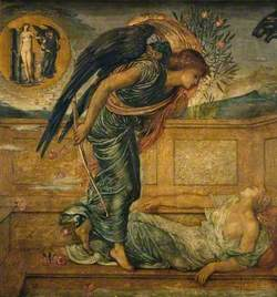 Cupid Finding Psyche Asleep by a Fountain (Palace Green Murals)