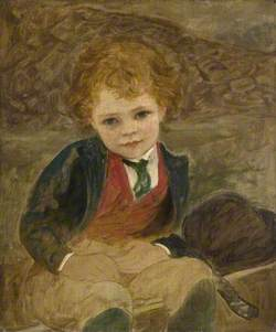 Study of a Boy Sitting in a Wheelbarrow