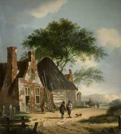Landscape with Buildings and Figures