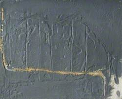 Grey Relief with an Ochre Line