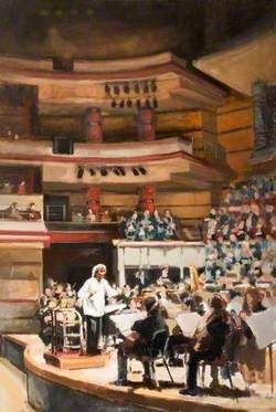 Sir Simon Rattle (b.1955), Conducting the City of Birmingham Symphony Orchestra in Symphony Hall, Birmingham