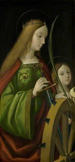 Withypool Triptych, Saint Catherine of Alexandria