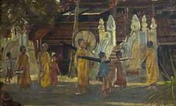 A Procession in Burma