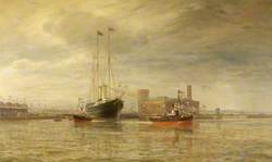 Opening of the Royal Edward Dock, Avonmouth, 9 July 1908, by His Majesty King Edward VII