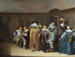 Dutch Cavaliers and Their Ladies Making Music