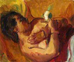 Reclining Model with a Rose