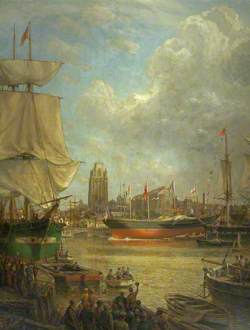 The Launch of the 'Great Western' in 1837