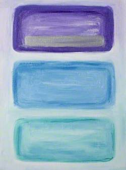 Blue, Green and Purple Abstract, No. 5